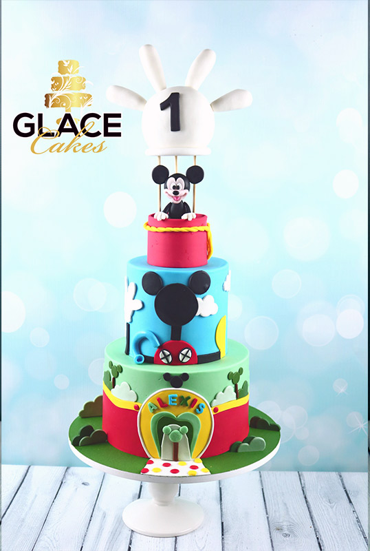 Mickey Club House Cake