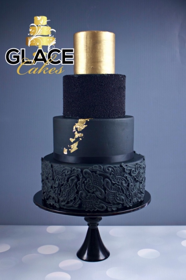 beautiful custom wedding cake Austin black